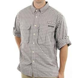Exofficio Airstrip Lite Micro Plaid Khaki Shirt