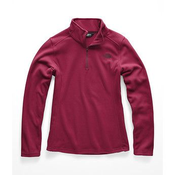 The North Face Glacier Quarter Zip in Rumba Red