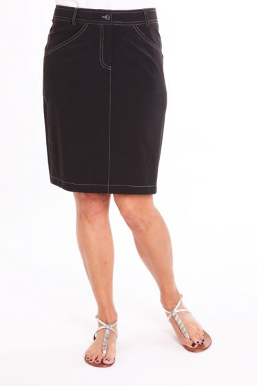 Birdee Tech Stitch Skirt Black Womens