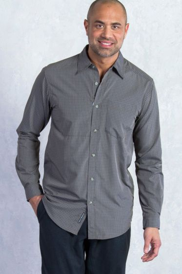 Exofficio Corsico Check Shirt in Sagebrush