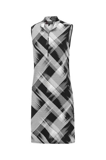 Birdee Geneva Sleeveless Dress - Black and White