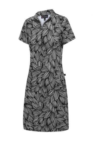 The Birdee Giselle short sleeve dress in black