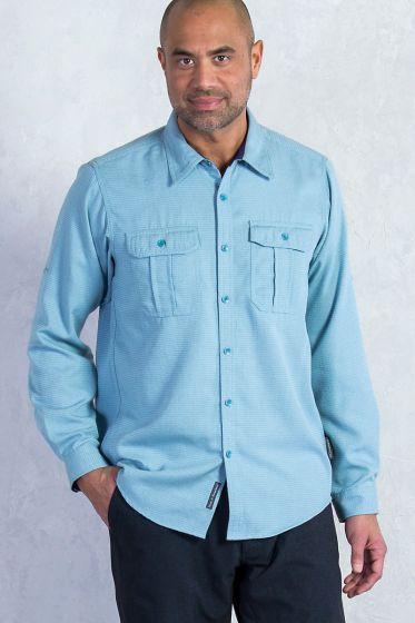 Exofficio Luzio Mens shirt in storm blue