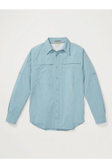 Exofficio Tellico Mens long sleeve shirt in Citadel blue