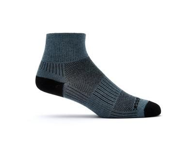 Wright Sock Coolmesh Quarter Sock Grey