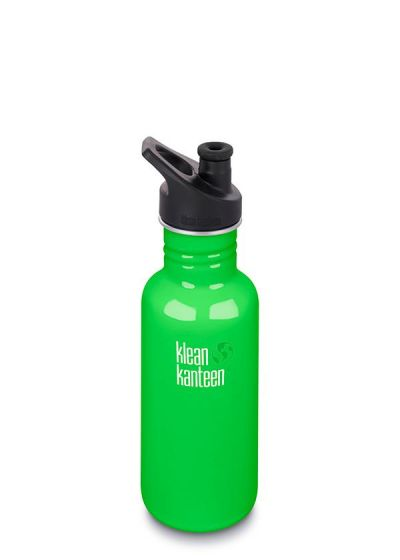 Klean Kanteen 18oz water bottle with sports cap