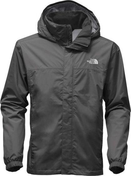 The North Face Resolve 2 rain jacket in asphalt grey/medium grey
