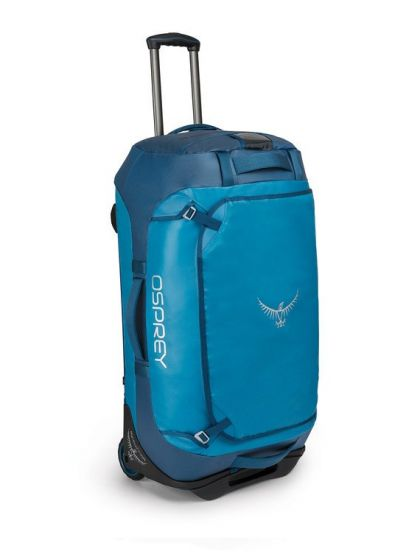 Opsrey Transporter Wheeled Duffel 90 Litres in Kingfisher Blue
