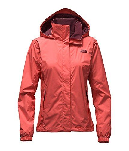 The North Face Resolve jacket for women in Spice coral ( orange)