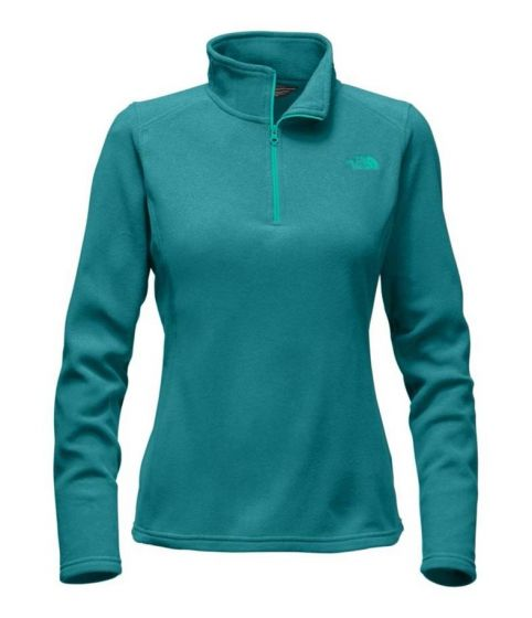 The Glacier QZip form The North Face in Porcelain Green