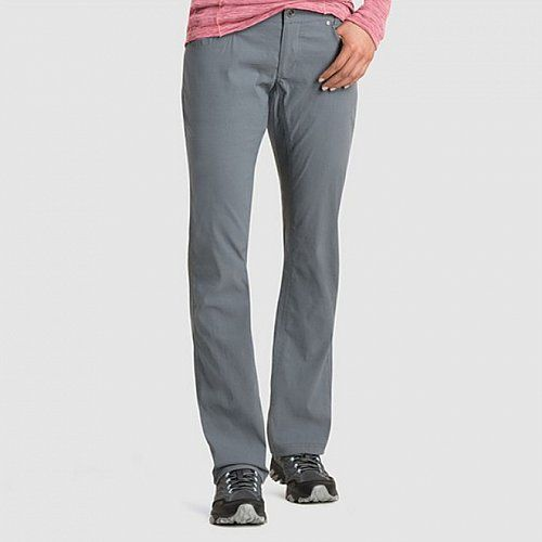 Stretchy travel jean pewter