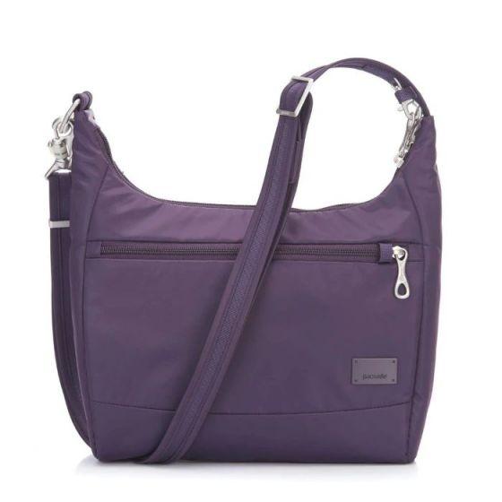 Pacsafe Citysafe CS100 Anti-Theft Travel Handbag - Mulberry