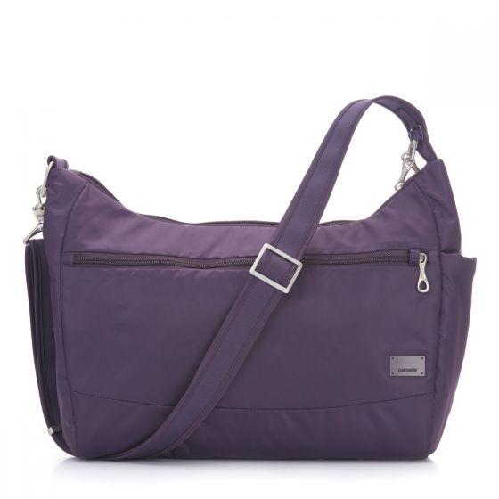 Pacsafe Citysafe cs200 Anti theft bag in Mulberry