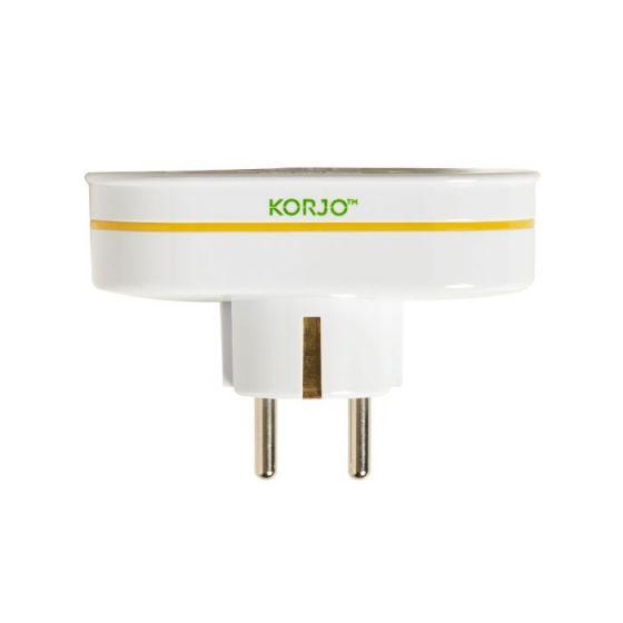Korjo Double Adaptor Europe