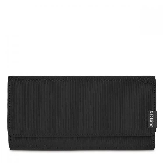 PacSafe RFIDsafe LX200 RFID Blocking Clutch Wallet Black