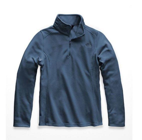 TNF TKA 100 Qzip Fleece Blue Wing Teal Womens