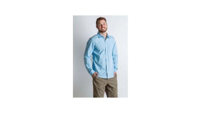Exofficio Salida Check Long Sleeve Shirt in Silverlake