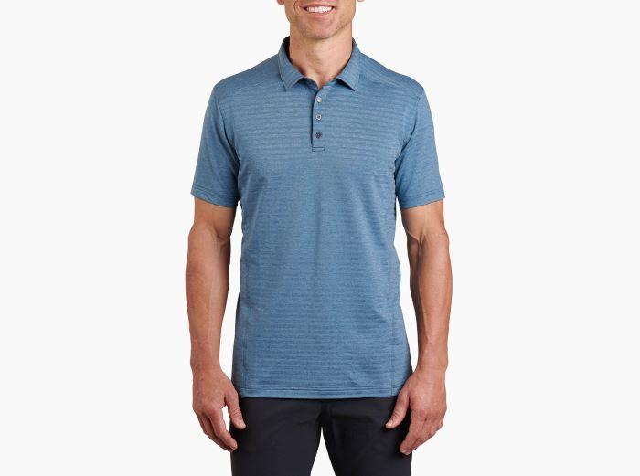 Kuhl AirKuhl Mens Polo Shirt - Marine Blue