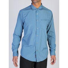 EXOF Trip L/S Shirt Check Mens Galaxy