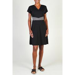 Exof Go To Cross Front Dress Black Womens
