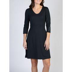 Exof Wanderlux 3/4Slve Dress Black