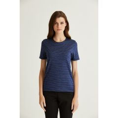 Hedrena Classic Tee SS Midnight Blue/Brown