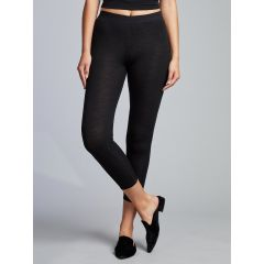 Hedrena Merino Long Jane Leg Black Womens