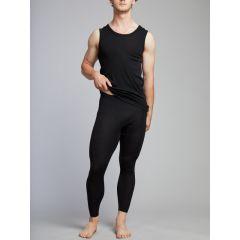 Hedrena Merino Long John Leg Black Mens