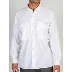 EXOF Airstrip L/S White Mens Shirt