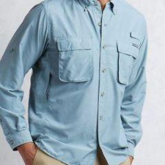 EXOF Airstrip L/S Blue Lead Mens Shirt
