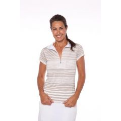 Bird Boathouse Stripe SS Shirt W Beige