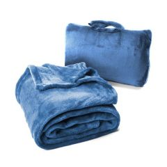 Cabeau Fold n Go Blanket Royal Blue