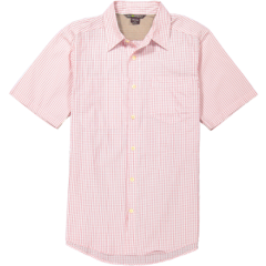EXOF Corsico Check S/S Shirt Mens Torch