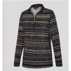 Birdee Crossroad L/S Wild Top Black Womens