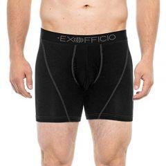 EXOF Sport Mesh 6 inch Boxer Brief Mens Black