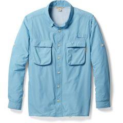 EXOF Airstrip L/S Shirt Aleutian Blue Mens