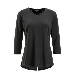 EXOF Wanderlux 3/4 Slv Top Black Womens