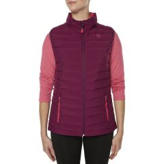 VIGI GearShift Down Vest Plum Pink Womens