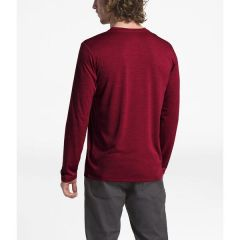TNF Hyperlayer L/S Tee Red Mens