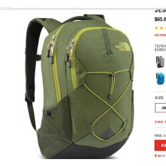 TNF Jester Day Pack NWTP Green