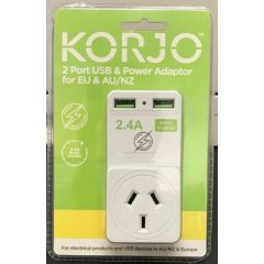 Korjo USB and Power Adaptor AU/EU