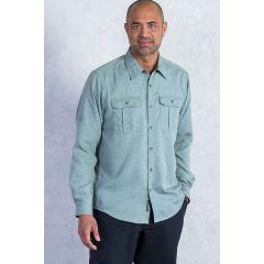 EXOF Luzio L/S Shirt Storm Blue Mens