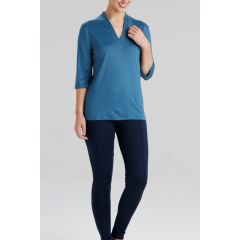 Hedrena Naru Somerset 3/4 Sleeve Top Sky Denim