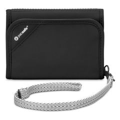 Pacsafe RFID Safe V125 Tri Fold Wallet Black