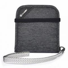 Pacsafe RFID Safe V100 Bi Fold Wallet Granite
