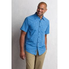 EXOF Salida Plaid S/S Shirt Mens Deep Water