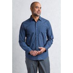 EXOF Salida Plaid L/S Deep Blue Mens