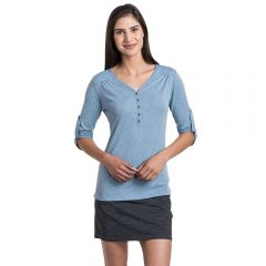 Kuhl Shasta 3/4 sleeve Bellflower Womens