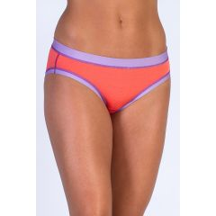 EXOF Sport Mesh Bikini Brief Hot Coral Womens