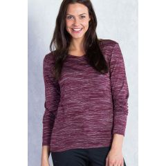 EXOF Terma V Neck Brandy Heather Womens